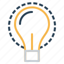 bulb, idea, imagination, innovation, invention, lamp, light icon