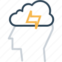cloud, ides, innovation, man, mind, person, power