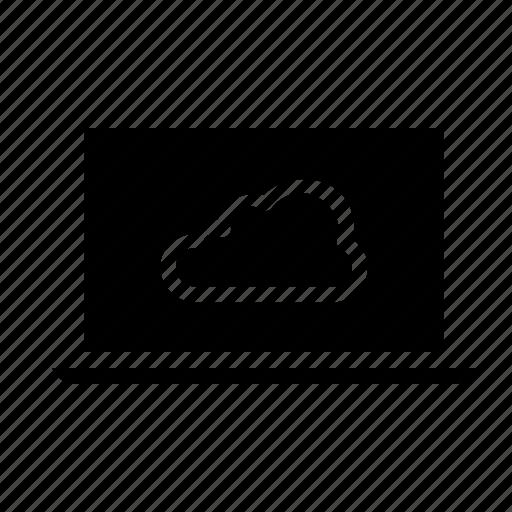 cloud, computer, data, device, laptop, online, storage icon