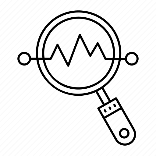 analysis, chart, graph, search icon