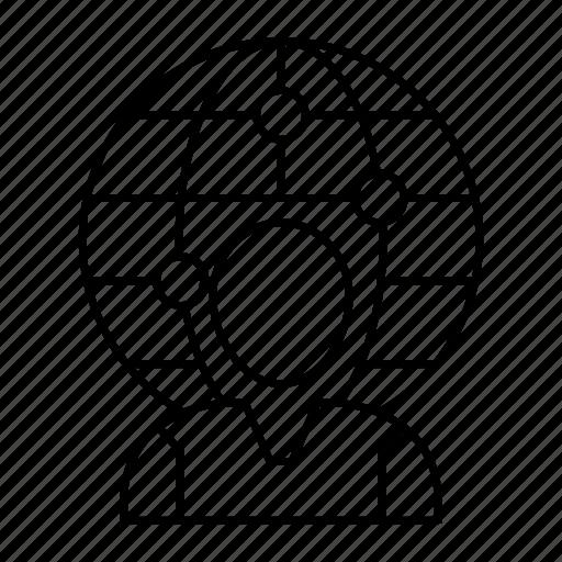 avatar, globe, profile, world icon