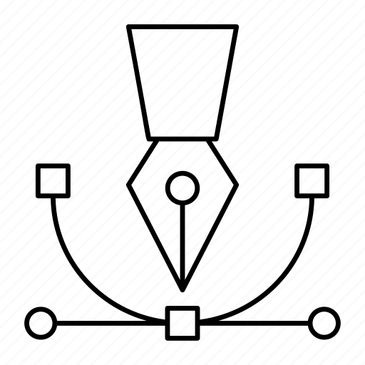 bezier, curved, design, drawing icon