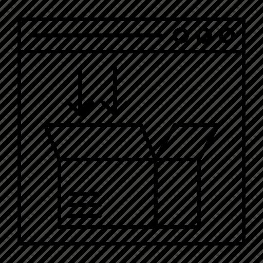 box, internet, parcel, webpage icon