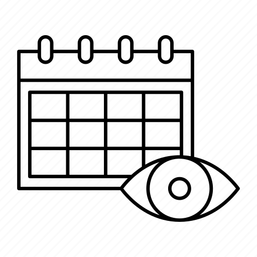 calendar, date, schedule, view icon