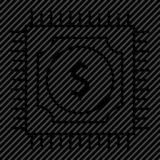 chip, cpu, electronic, processor icon