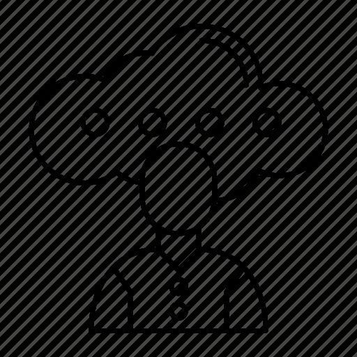 account, avatar, cloud, employee icon