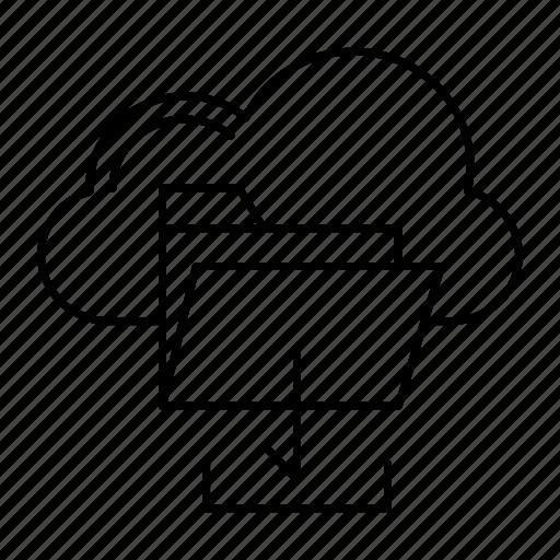 archive, cloud, download, folder icon