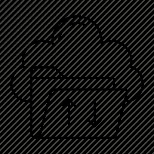 Cloud, download, folder, upload icon - Download on Iconfinder