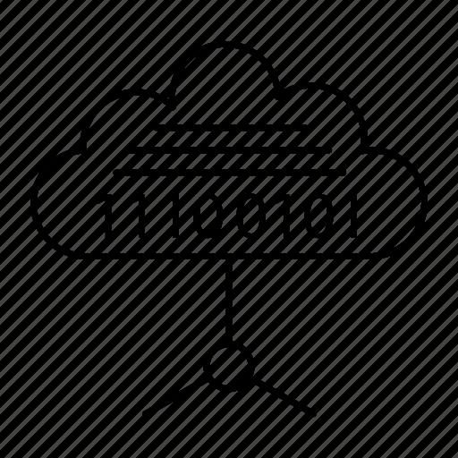 cloud, coding, computing, server icon