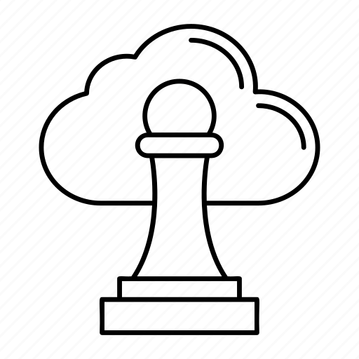 approved, cloud, server, stamp icon