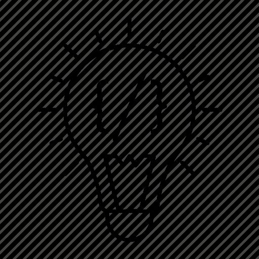 bright, creativity, lamp, light icon