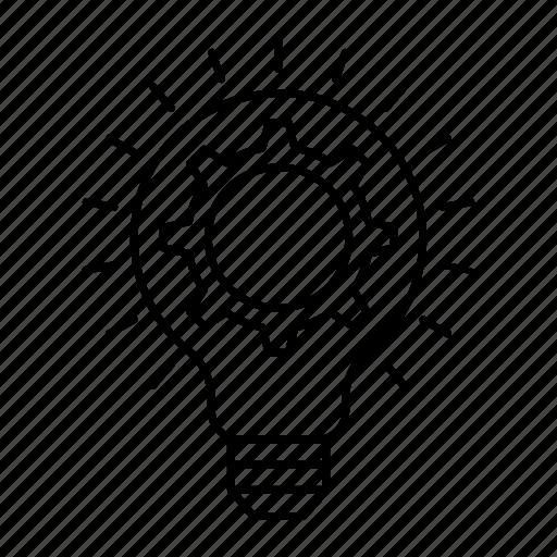 creativity, lamp, light, setting icon