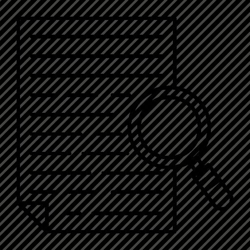 document, file, record, search icon
