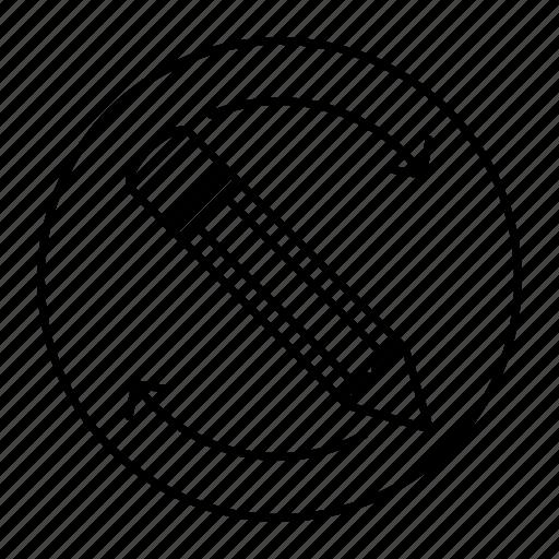 edit, pen, pencil, reload icon