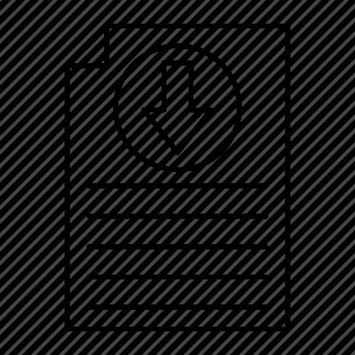 document, download, file, records icon