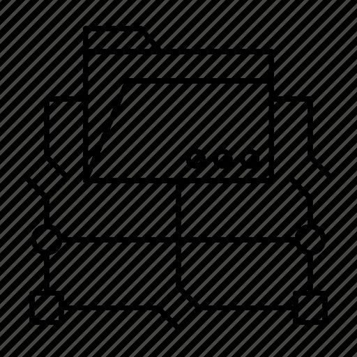 archive, diagram, files, folder icon