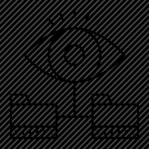 eye, files, folder, view icon