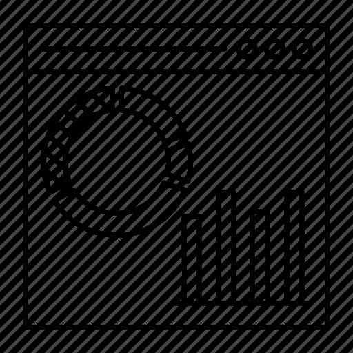 chart, graph, internet, online icon