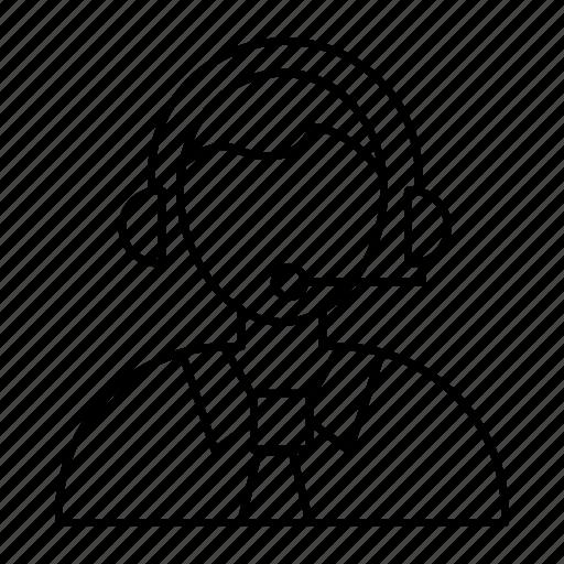 employee, headset, help, support icon