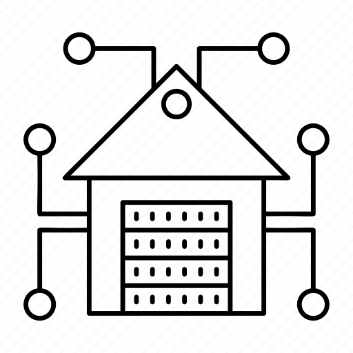 home, house, server, storage icon