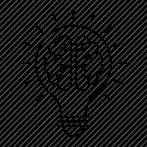 creativity, idea, lamp, light icon