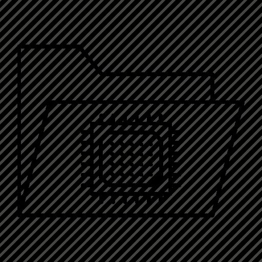 chip, files, folder, micro icon