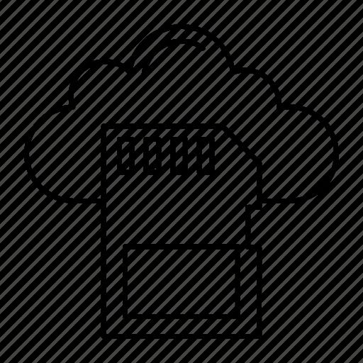cloud, microchip, sd, server icon