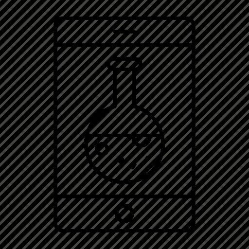 beaker, device, lab, mobile icon