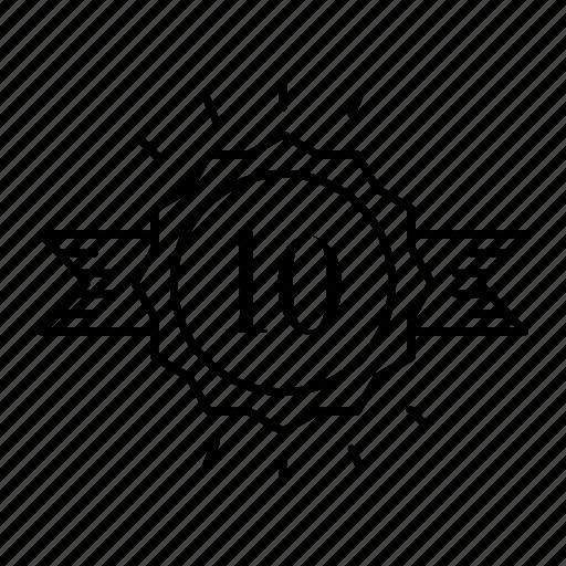 badge, banner, quality, ribbon icon