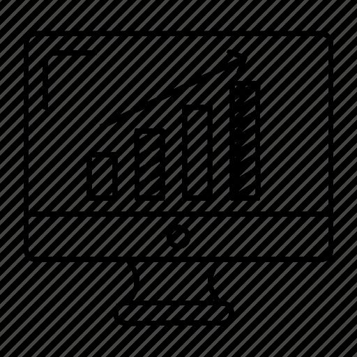 chart, graph, monitor, screen icon