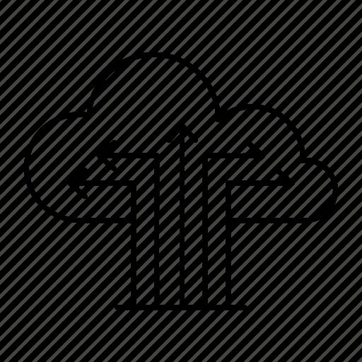 cloud, computing, server, storage icon