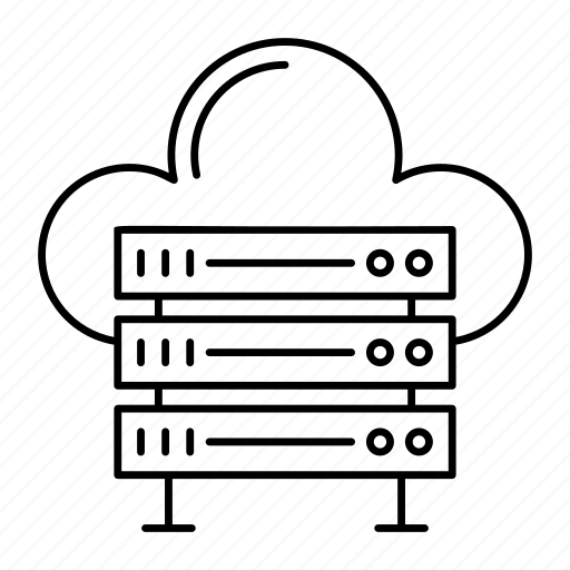 cloud, datacenter, server, storage icon