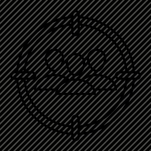 group, organization, target, team icon
