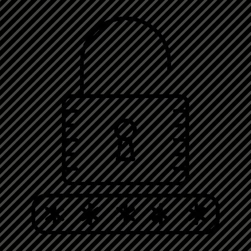 access, password, security, unlock icon