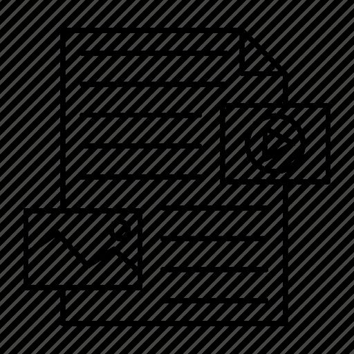 document, file, picture, video icon