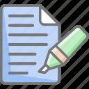 felt tip pen, important, note, text