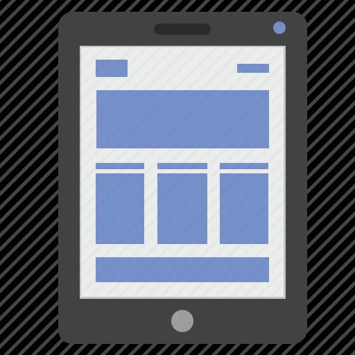 adaptive, ipad, markup, page, site, web icon