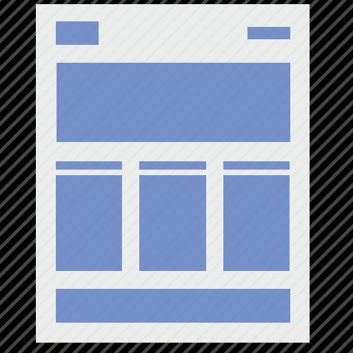 corporative, markup, page, site, web icon