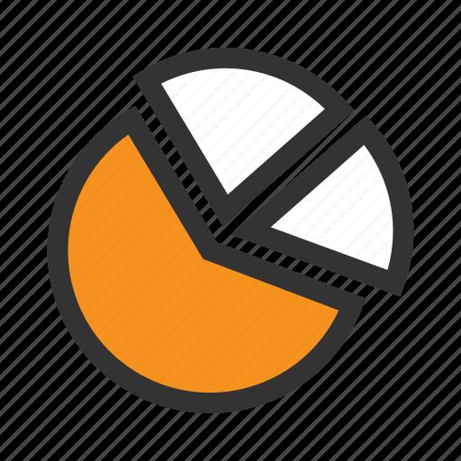 Office, schedule, graph, chart, diagram, plan, orange icon