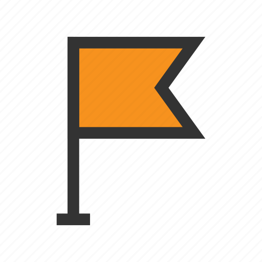 flag, here, office, orange, place, point, pointer icon