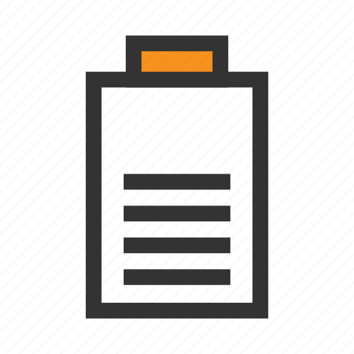 battery, cell, charge, office, orange, phone, volt icon