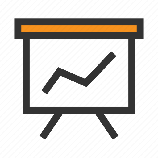 Board, graph, office, orange, plan, schedule, task icon - Download on Iconfinder