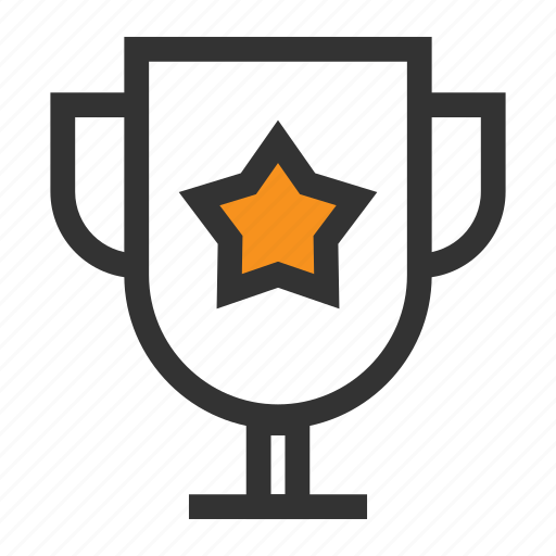 Bowl, cup, office, orange, prize, star, win icon - Download on Iconfinder