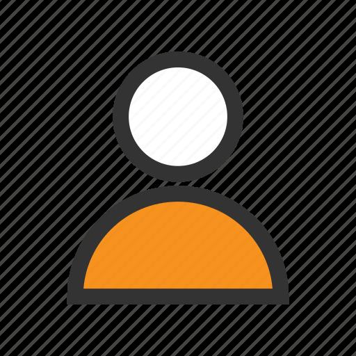 avatar, man, office, orange, people, person, profile icon