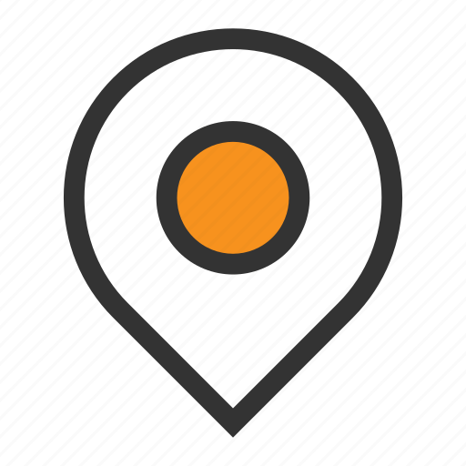 map, office, orange, pin, place, point, pointer icon