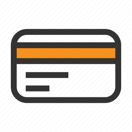 business, card, credit, money, office, orange, pay icon