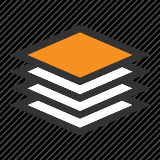 archive, base, info, list, office, orange, paper icon