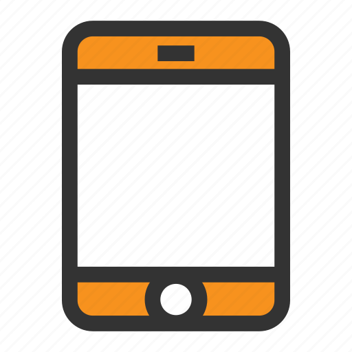 Office, mobile, cell, phone, call, orange, talk icon