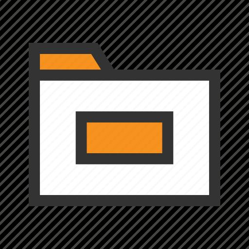 archive, doc, file, folder, office, orange, paper icon