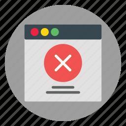 blocked, business, error, template, website icon